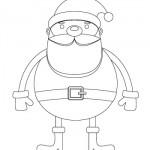 Disegni da colorare per Natale: Babbo Natale
