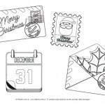Disegni da colorare per Natale: Lettere natalizie