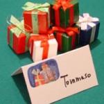 I Segnaposto per la tavola di Natale o la cena di Capodanno