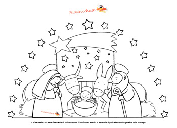 Decorazione di Natale con il Presepe