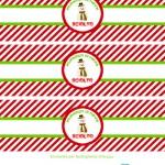 Natale in tavola: Etichette per l'acqua con Pupazzo di Neve