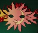 Maschere di Carnevale fai da te: Sole e Fiamma