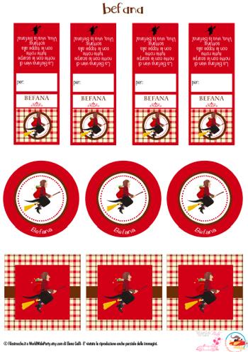 etichette per l'Epifania