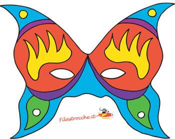 Ti conosco mascherina for Immagini maschere carnevale da colorare