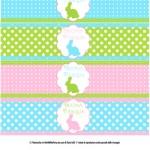 Decorazioni di Pasqua fai da te: bandierine per le cannucce e etichette per le bottiglie