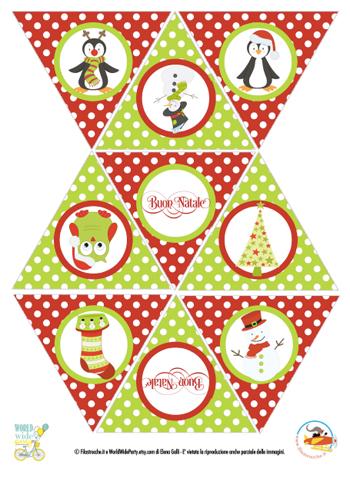 Decorazioni di Natale: bandierine