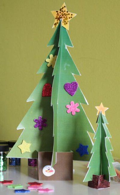 Albero di natale fai da te da decorare e costruire for Decorazioni albero di natale fai da te