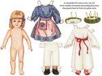 Bambolina di carta di Santa Lucia