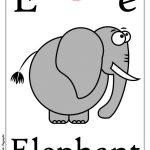 Schede alfabeto inglese da stampare: lettera E