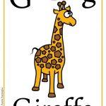 Schede alfabeto inglese da stampare: lettera G