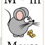 Schede alfabeto inglese da stampare: lettera M
