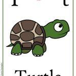 Schede alfabeto inglese da stampare: lettera T