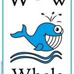 Schede alfabeto inglese da stampare: lettera W