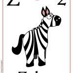 Schede alfabeto inglese da stampare: lettera Z