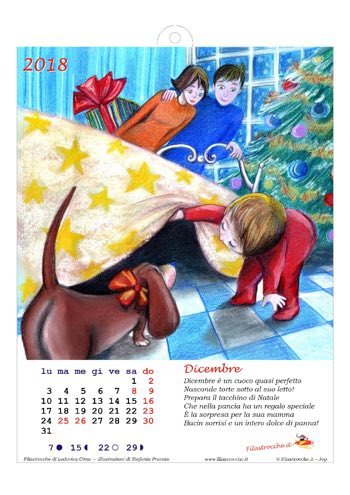 Calendario 2018 illustrato