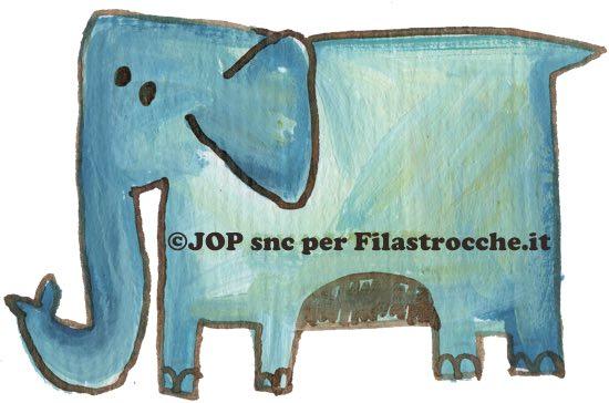 elefante si dondolava