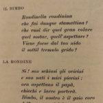 Bisbigli – Il bimbo e la rondine