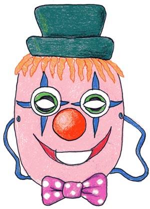 Creiamo Le Maschere Di Carnevale Maschera Da Clown Filastroccheit
