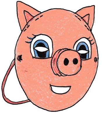 Maschera da maialino