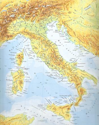 Cartina Italia Monti E Fiumi.La Mia Italia Di Enzo Pilato I Testi Della Tradizione Di Filastrocche It