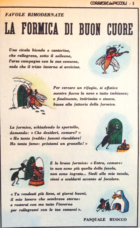 La formica di buon cuore