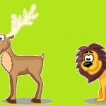 Il cervo alla fonte e il leone