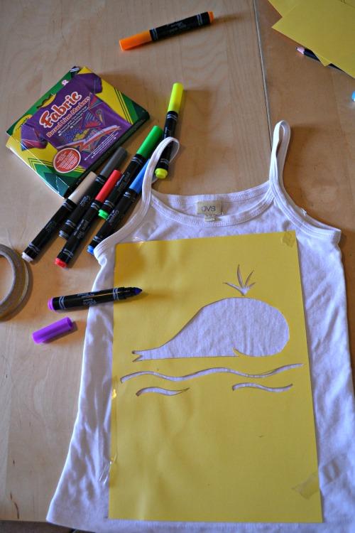 conottiera colorata con gli stencil