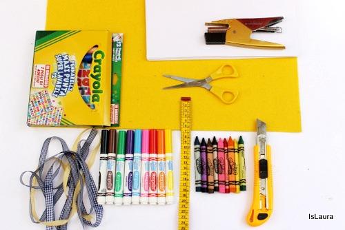 occorrente astuccio con feltro pennarelli Crayola