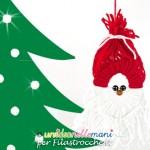 Decorazioni di Natale per bambini: Babbo Natale di lana