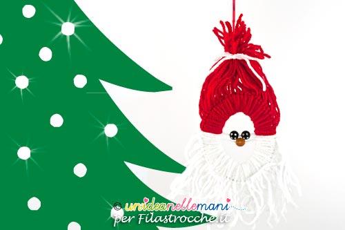 Immagini Di Natale Per Bambini.Decorazioni Di Natale Per Bambini Babbo Natale Di Lana