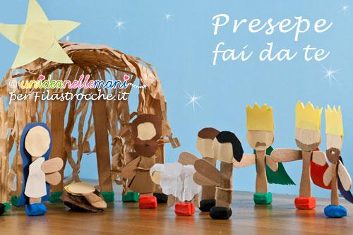 Presepe Con Bastoncini Di Legno : Natale fai da te presepe per bambini da costruire filastrocche