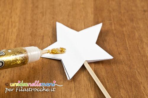 stella di carta e glitter