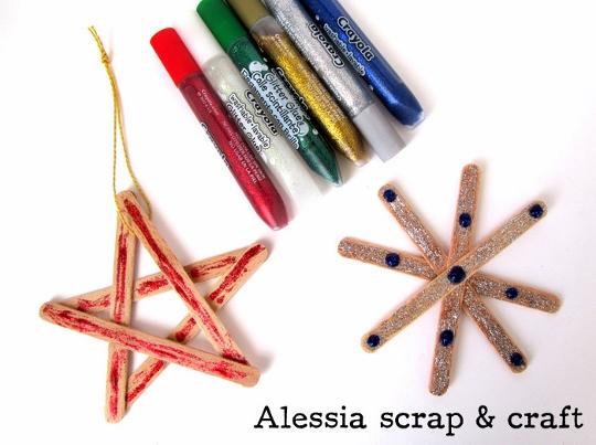 Stella Di Natale Legno.Stecchini E Colla Glitter Per Creare Le Stelle Di Natale I Testi