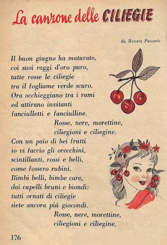 canzone delle ciliegie