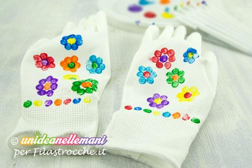 lavoretto guanti decorati