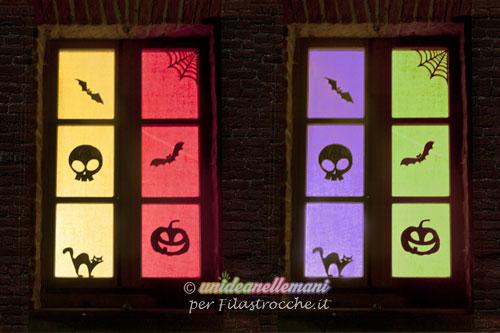 finestre decorate per halloween