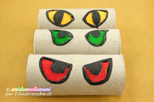 lavoretti halloween con rotoli di carta igienica