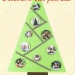 Albero di Natale da parete fai da te per bambini