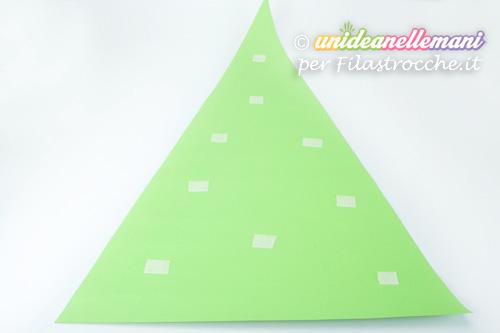 albero natale triangolo di cartoncino
