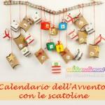 Calendario dell'avvento con scatoline e dolcetti Kinder