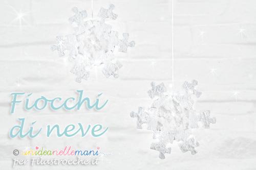 Fiocchi Di Neve Di Carta Per Bambini : Fiocchi di neve fai da te con materiale riciclato filastrocche.it