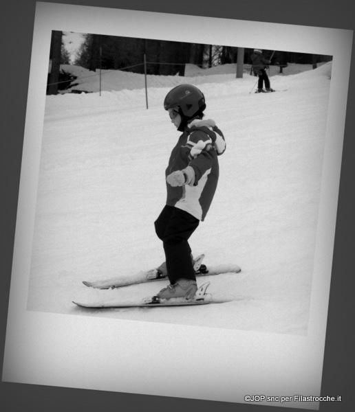 La lezione di sci