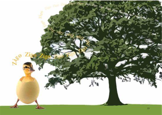 uovo di Pasqua e la storia di Zigo