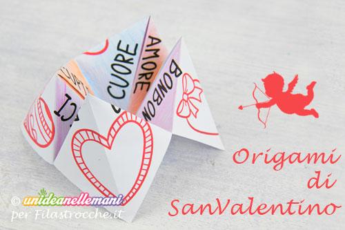 origami di san valentino,