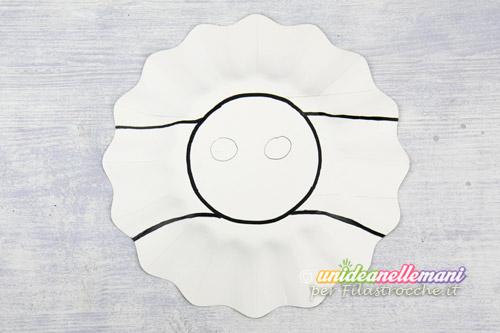 Maschere di animali con i piatti di carta