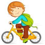 Vado a pranzo in bicicletta