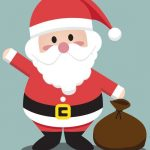 Babbo Natale di rosso vestito
