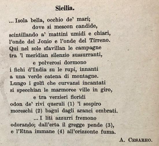 Poesie Di Natale In Siciliano.Siciliana Di Giovanni Alfredo Cesareo Filastrocche It