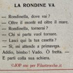 Addio Rondine!