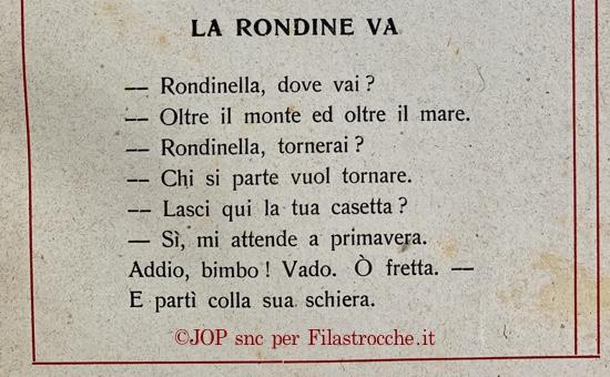 Addio Rondine